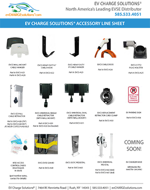 EV Charge Solutions® Accessory Line Sheet
