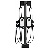 Clipper Creek Universal Pedestal Cable Management Extension - QUAD