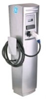 This is a photo of a 30 amp GE EVSN3 Pedestal Durastation Car Charging Station