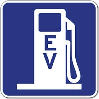 "EV Charger Icon Sign 24""x24"""